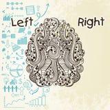 Esprit humain infographic avec l'hémisphère gauche et droit illustration de vecteur