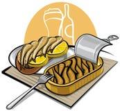 Esprots en pétrole avec le sandwich illustration de vecteur