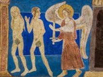 Espulsione dall'Eden Adam e vigilia immagini stock libere da diritti