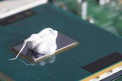 Espulso sul chip di unit? di elaborazione Per raffreddamento immagine stock libera da diritti