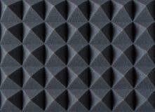 Espuma absorbente acústica para la grabación en estudio Forma de la pirámide imágenes de archivo libres de regalías