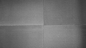 Espuma acústica de la prueba de los sonidos en la pared del estudio imagenes de archivo
