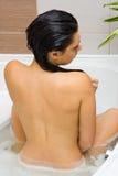 Espuma-baño Fotos de archivo