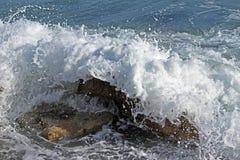 Espuma da água do mar Foto de Stock Royalty Free