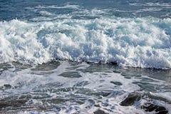 Espuma da água do mar Fotografia de Stock