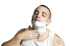 Espuma de afeitar Fotografia Stock Libera da Diritti