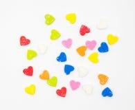 Espuma de la forma del corazón del multicolor Imagen de archivo libre de regalías