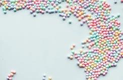 Espuma de poliestireno colorida conceitos da faculdade criadora Imagens de Stock