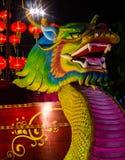 Espuma del dragón para celebrar Año Nuevo chino Fotografía de archivo