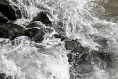 Espuma del mar de la costa de Oregon Fotografía de archivo libre de regalías