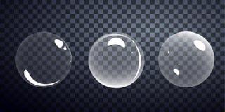 Espuma del vector del jabón de la burbuja del champú Foto de archivo