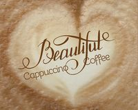 Espuma do cappuccino ilustração stock