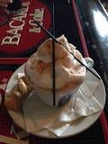 Espuma do cappuccino Fotografia de Stock