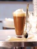 Espuma y café de la leche Fotografía de archivo