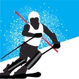 Esquí ilustración del vector