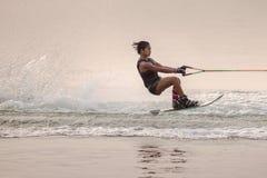 Esquí acuático nacional 2015 y Wakeboard de los campeonatos de la taza de Putrajaya fotos de archivo libres de regalías