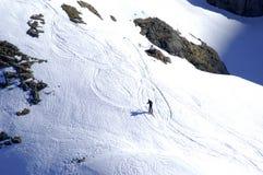 Esquí alpestre imagenes de archivo