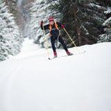 Esquí a campo través Fotografía de archivo libre de regalías