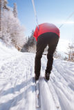 Esquí a campo través del hombre joven Imagen de archivo libre de regalías