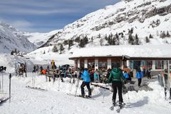 Esquí de Apres Foto de archivo