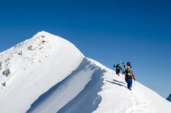 Esquí de Backcountry Imagen de archivo