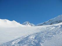 Esquí de Backcounty Imágenes de archivo libres de regalías