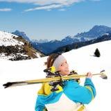 Esquí de la montaña Foto de archivo libre de regalías