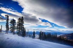 esqu? de la monta?a de Colorado fotos de archivo