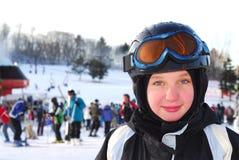 Esquí de la muchacha Fotos de archivo libres de regalías