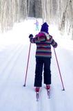 Esquí de la muchacha Fotografía de archivo libre de regalías
