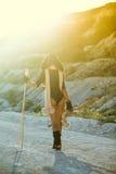 Esquí de la muchacha en verano caliente Imagen de archivo