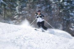 Esquí de la mujer de Winer Imagen de archivo libre de regalías