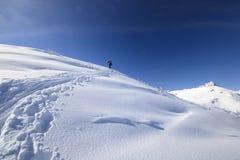 Esquí de la zona remota fotografía de archivo