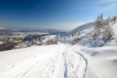 Esquí de la zona remota fotos de archivo