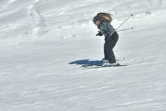 Esquí del adolescente en Austria Foto de archivo libre de regalías