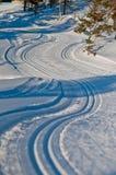 Esquí del campo a través Imagenes de archivo