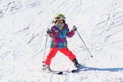 Esquí del esquiador en Deogyusan Ski Resort Imagenes de archivo