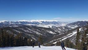 Esquí del invierno en Colorado colorido Imagen de archivo
