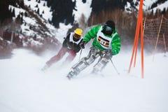 Esquí del invierno y competición de los bordercross Imagen de archivo