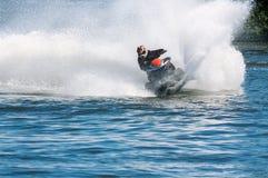 Esquí del jet en la acción Imagen de archivo libre de regalías