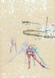 Esquí del país cruzado Fotografía de archivo