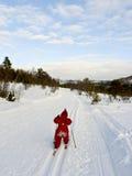 Esquí del país cruzado del niño Imagenes de archivo