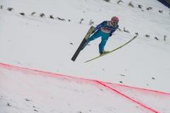 Esquí del WC que vuela Vikersund (Noruega) el 14 de febrero de 2015 Foto de archivo