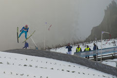 Esquí del WC que vuela Vikersund (Noruega) el 14 de febrero de 2015 Fotos de archivo