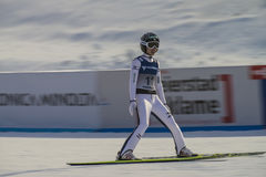 Esquí del WC que vuela Vikersund (Noruega) el 14 de febrero de 2015 (a partir de la 2da mitad Fotografía de archivo