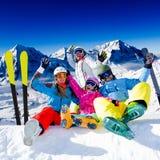 Esquí, diversión del invierno Fotos de archivo libres de regalías