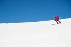 Esquí en el arco alpino italiano majestuoso Imágenes de archivo libres de regalías