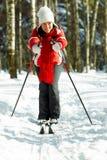 Esquí en el bosque Imagen de archivo