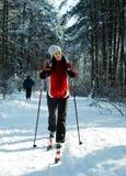 Esquí en el bosque Imagen de archivo libre de regalías