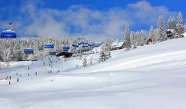 Esquí en Feldberg Bosque negro, Alemania Imágenes de archivo libres de regalías